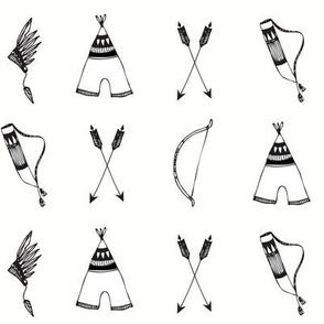 bow & arrow bw - elvelyckan