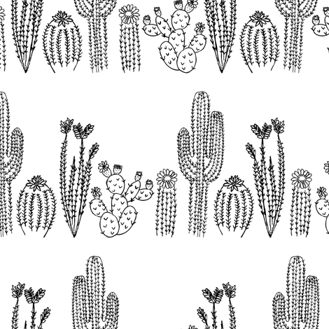 Tucson Cacti fabric by robyriker on Spoonflower - custom fabric