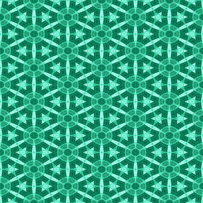 Patchwork in Aqua: Spinners