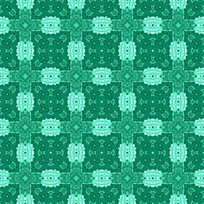 Patchwork in Aqua: Fancy Squares
