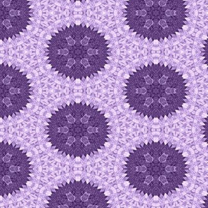 Patchwork in Purple: Roundels on Lace