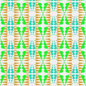 Weaving Aqua Green Brown