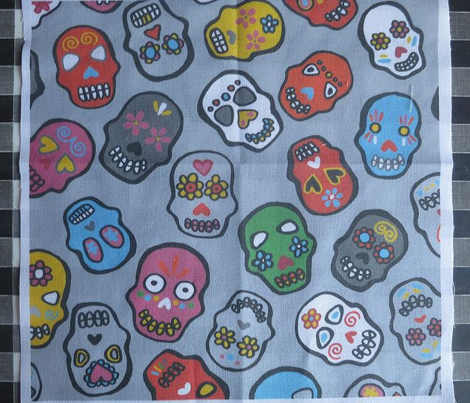 Mexican Skulls Grey Candy