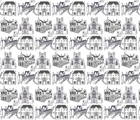 crewkerne_sketches_2 fabric by katesbeads on Spoonflower - custom fabric