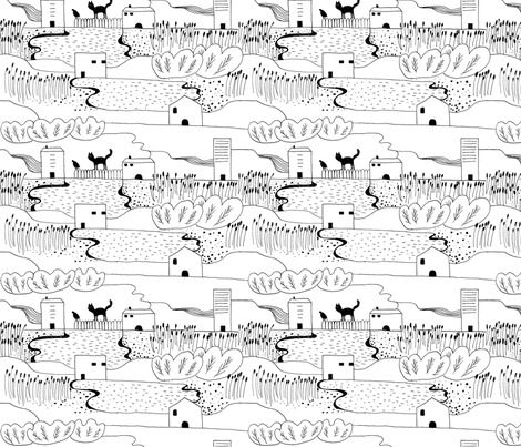 neighbourhood fabric by liina_koskaru on Spoonflower - custom fabric