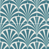 Art deco teal grey chic pattern