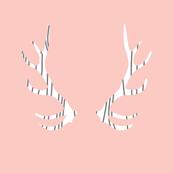 fois bois antlers // pink
