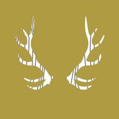 fois bois antlers // mustard