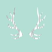 fois bois antlers // aqua