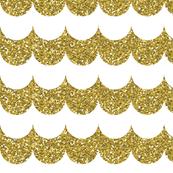 gold glitter v. III scallop
