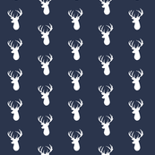 navy deer head spaced
