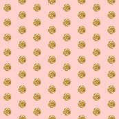 Tiny Pink Glitter Polka Dot in Pink