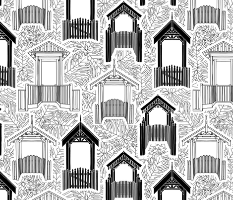 Please close the gate fabric by rubydoor on Spoonflower - custom fabric