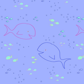 Whales and fishes