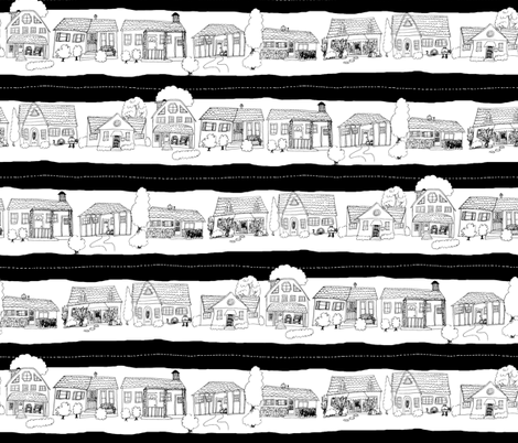 Down the Street fabric by pond_ripple on Spoonflower - custom fabric