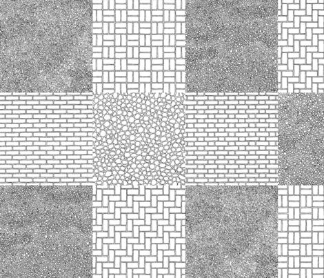 architextural neighbourhood fabric by sef on Spoonflower - custom fabric
