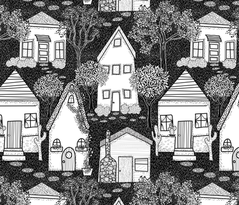 Into the Wood Streets  fabric by vo_aka_virginiao on Spoonflower - custom fabric