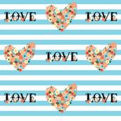 Bold Stripes Modern Flower Love