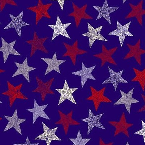 Abstract stars (small) multi-direction purple background