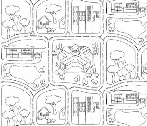 My_Neighborhood fabric by nicolle on Spoonflower - custom fabric