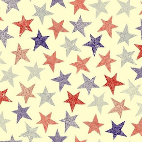 Abstract stars multi-direction cream background