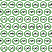 Green Circle Dot Dirt Bikes