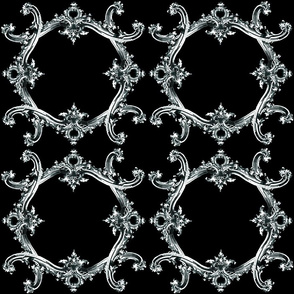 Rococo Swag ~ Black and White