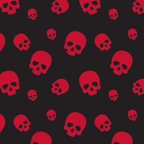 Skull Confetti - Red