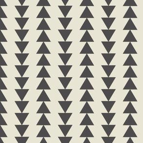 Tribal Triangles-Large-Dark Gray & Cream