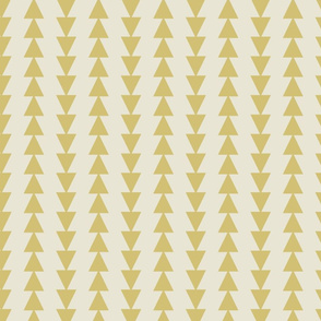 Tribal Triangles-Antique Yellow & Cream