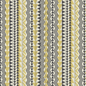 Tribal Triangles-Yellow & Gray