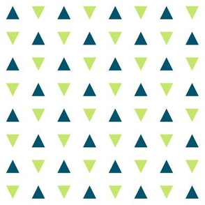 Navy and Green Triangles - Small