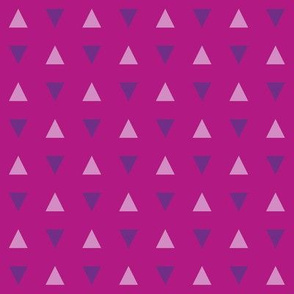 Purple Triangles on Magenta - Small