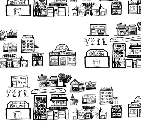 MYTOWN fabric by chovy on Spoonflower - custom fabric