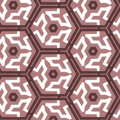 Pretty Pink and White Hexagons