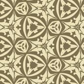 Elegant Vintage Geometric in Green and Cream
