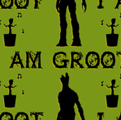 I am Groot (Green-Black)