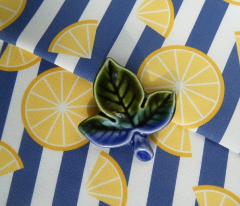 Lemons on Stripes - Navy Stripe