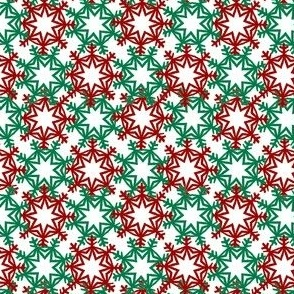 Red and Green Snowflakes