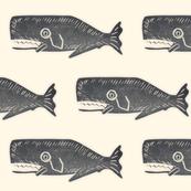 Antique Black Whale