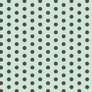 Gray Mint Polka SMALL