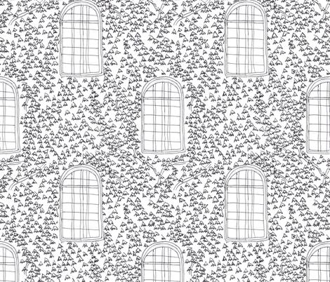 Princeton Ivy - b&w fabric by mrs_atkins on Spoonflower - custom fabric