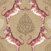 Big Cat Damask (Gold)