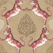 Big Cat Damask (Gold)