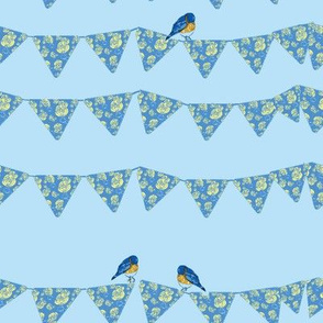 Bunting and Bluebirds-ch-ch-ch