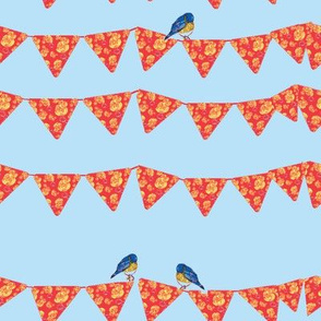 Bunting and Bluebirds-ch-ch-ch-ch