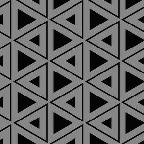 Hexagons and Triangles in Black and Grey