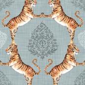 Big Cat Damask (in Silver)