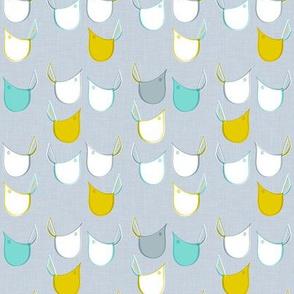 Retro Bird Fabric Small