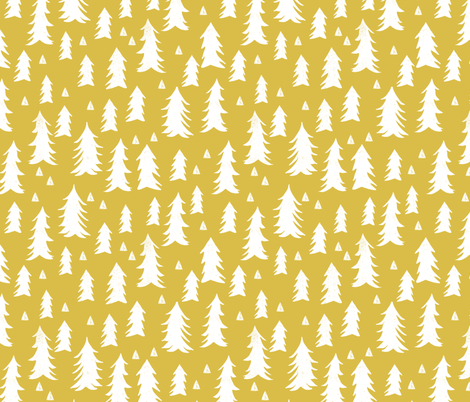 Tree trees mustard yellow kids nursery outdoors camping for Yellow nursery fabric